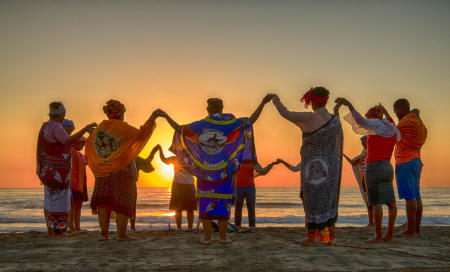 traditional healers , Durban beach